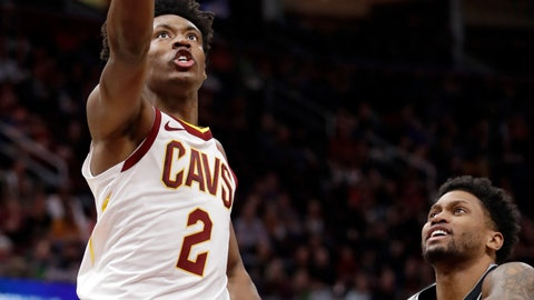 <p>               Cleveland Cavaliers' Collin Sexton (2) drives to the basket against San Antonio Spurs' Rudy Gay (22) in the first half of an NBA basketball game, Sunday, April 7, 2019, in Cleveland. (AP Photo/Tony Dejak)             </p>