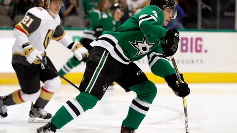 <p>               FILE - In this March 15, 2019, file photo, Dallas Stars defenseman Miro Heiskanen (4) handles the puck as Vegas Golden Knights' Cody Eakin (21) gives chase in the second period of an NHL hockey game, in Dallas. Teenagers Miro Heiskanen of the Dallas Stars and  Andrei Svechnikov of the Carolina Hurricanes and early 20-somethings Mitch Marner and William Nylander show playoff experience sometimes is overrated. Plenty of youth is being served early in the NHL postseason.  (AP Photo/Tony Gutierrez, File)             </p>
