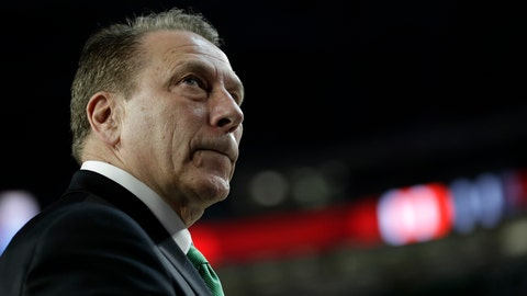 <p>               Michigan State head coach Tom Izzo watches after the team's 61-51 loss to Texas Tech in the semifinals of the Final Four NCAA college basketball tournament against Texas Tech, Saturday, April 6, 2019, in Minneapolis. (AP Photo/David J. Phillip)             </p>