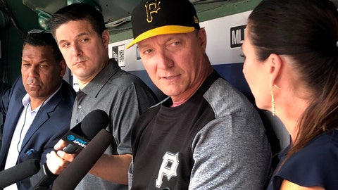<p>               Pittsburgh Pirates Special Assistant Jeff Bannister speaks to reporters from the visitors dugout before a baseball game against the Texas Rangers in Arlington, Texas, Tuesday, April 30, 2019. (AP Photo/Stephen Hawkins)             </p>