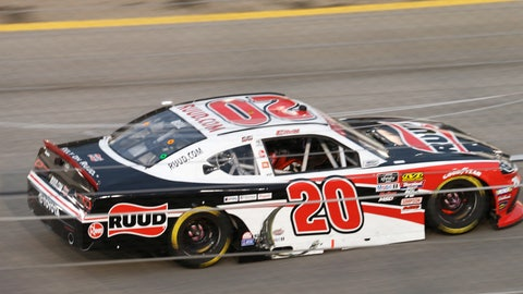 <p>               Christopher Bell drives into turn one during the NASCAR Xfinity Series auto race at Richmond International Raceway in Richmond, Va., Friday, April 12, 2019. (AP Photo/Steve Helber)             </p>