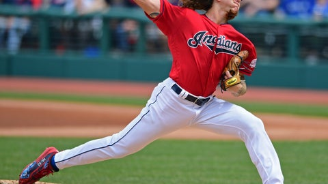 <p>               Cleveland Indians starting pitcher Mike Clevinger delivers in the first inning of a baseball game against the Toronto Blue Jays, Sunday, April 7, 2019, in Cleveland. (AP Photo/David Dermer)             </p>