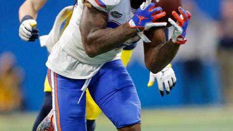 <p>               FILE - In this Dec. 29, 2018, file photo, Florida defensive back Chauncey Gardner-Johnson (23) makes the catch for an interception against Michigan during the second half of the Peach Bowl NCAA college football game, in Atlanta. Gardner-Johnson is a possible pick in the 2019 NFL Draft. (AP Photo/John Bazemore, File)             </p>