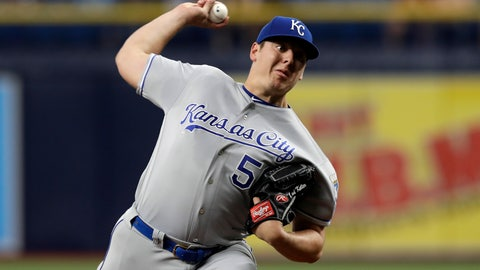 <p>               Kansas City Royals pitcher Brad Keller delivers to the Tampa Bay Rays during the first inning of a baseball game Monday, April 22, 2019, in St. Petersburg, Fla. (AP Photo/Chris O'Meara)             </p>