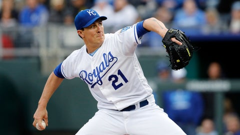 <p>               Kansas City Royals pitcher Homer Bailey throws to a batter in the first inning of a baseball game against the Cleveland Indians at Kauffman Stadium in Kansas City, Mo., Saturday, April 13, 2019. (AP Photo/Colin E. Braley)             </p>
