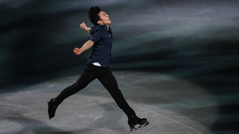 <p>               FILE - In this March 24, 2019, file photo, gold medalist Nathan Chen, from the United States, performs during the gala exhibition for the ISU World Figure Skating Championships at Saitama Super Arena in Saitama, north of Tokyo. All he's done since becoming an Ivy Leaguer is win the Grand Prix Final, a third straight U.S. figure skating championship, and repeat as world champion. Yale might have a strong hockey team, but Chen's hat trick can't be matched by any of the Bulldogs. (AP Photo/Annice Lyn, File)             </p>