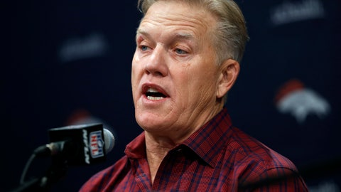 <p>               FILE - In this Friday, March 15, 2019, file photo, Denver Broncos general manager John Elway talks to reporters at a news conference at the team's headquarters in Englewood, Colo. Elway's trade for Joe Flacco in the offseason sets him up to capitalize once again on a draft deep with defensive playmakers. (AP Photo/David Zalubowski, File)             </p>