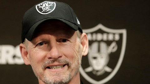 <p>               Oakland Raiders general manager Mike Mayock speaks during an NFL football news conference in Alameda, Calif., Thursday, April 11, 2019. (AP Photo/Jeff Chiu)             </p>