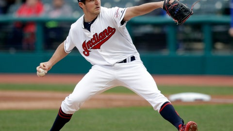 <p>               Cleveland Indians starting pitcher Trevor Bauer delivers in the first inning of a baseball game against the Toronto Blue Jays, Thursday, April 4, 2019, in Cleveland. (AP Photo/Tony Dejak)             </p>