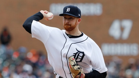 <p>               Detroit Tigers pitcher Spencer Turnbull throws during the first inning of a baseball game against the Kansas City Royals, Thursday, April 4, 2019, in Detroit. (AP Photo/Carlos Osorio)             </p>