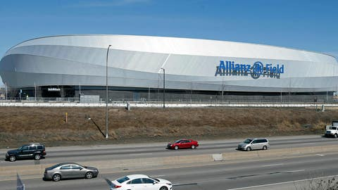 <p>               In this March 26, 2019, photo, the new stadium of the Minnesota United FC Loons is shown in St. Paul, Minn. The MLS soccer team's home opener and debut of the privately-funded Allianz Field is April 13 against New York City FC in St. Paul, Minn. (AP Photo/Jim Mone)             </p>