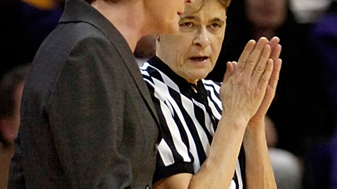 <p>               FILE - In this Feb. 17, 2007, file photo, Tennessee head coach Pat Summitt, left, questions a call on one of her players to referee June Courteau, during the first half of an NCAA college basketball game against Louisiana State, in Baton Rouge, La. A member of the Women's Basketball Hall of Fame, Courteau is retiring as the NCAA's national coordinator of officiating after 51 years as a women's basketball official. The NCAA said Friday, April 26, 2019, her retirement takes effect May 31.  (AP Photo/Bill Feig, File)             </p>