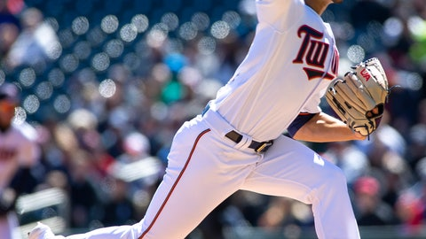 <p>               Minnesota Twins starting pitcher Jose Berrios (17) delivers against the Detroit Tigers during the first inning of a baseball game Sunday, April 14, 2019, in Minneapolis. (AP Photo/Paul Battaglia)             </p>