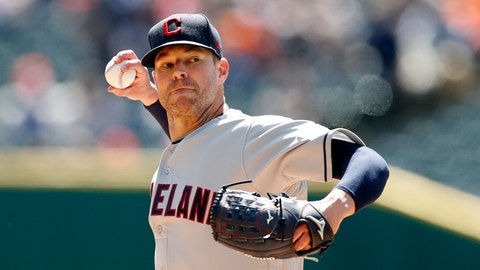 <p>               Cleveland Indians starting pitcher Corey Kluber throws during the first inning of a baseball game against the Detroit Tigers, Tuesday, April 9, 2019, in Detroit. (AP Photo/Carlos Osorio)             </p>