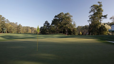 <p>               FILE - In this March 31, 2010. file photo, the green on the fifth hole is shown at Augusta National Golf Club, the site of the Masters golf tournament in Augusta, Ga. The hole is the toughest par-4 on the front nine at Augusta National. (AP Photo/Rob Carr, File)             </p>