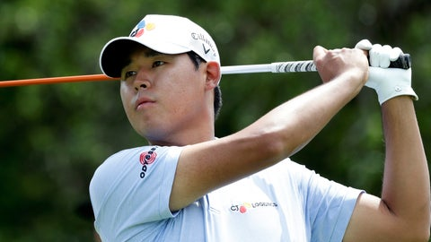 <p>               Si Woo Kim watches his drive on the ninth hole during the first round of the Texas Open golf tournament, Thursday, April 4, 2019, in San Antonio. (AP Photo/Eric Gay)             </p>
