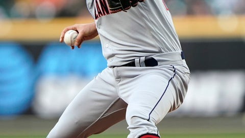 <p>               Cleveland Indians starting pitcher Trevor Bauer throws against the Houston Astros during the first inning of a baseball game Thursday, April 25, 2019, in Houston. (AP Photo/David J. Phillip)             </p>