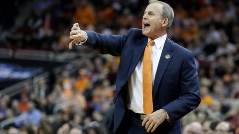 <p>               FILE -- In this March 28, 2019, file photo, Tennessee coach Rick Barnes calls a play during the first half of a men's NCAA tournament college basketball South Regional semifinal against Purdue in Louisville, Ky. Barnes believes he'd be settling in as UCLA's coach right about now if buyout negotiations hadn't broken down. (AP Photo/Michael Conroy, File)             </p>