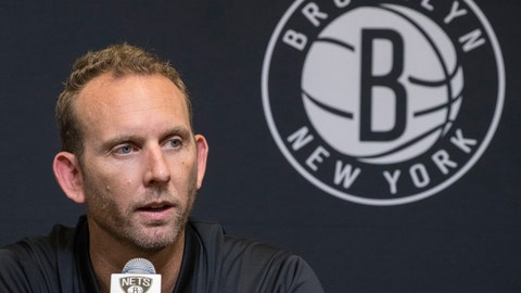 <p>               FILE - This June 18, 2018, file photo shows Brooklyn Nets General Manager Sean Marks during a news conference introducing the team's draft picks in New York. NBA League Operations president Byron Spruell said Marks will serve a one-game suspension and be fined $25,000 for entering the referees' locker room after Game 4 of the Nets-76ers playoff series Saturday. (AP Photo/File, Mary Altaffer)             </p>