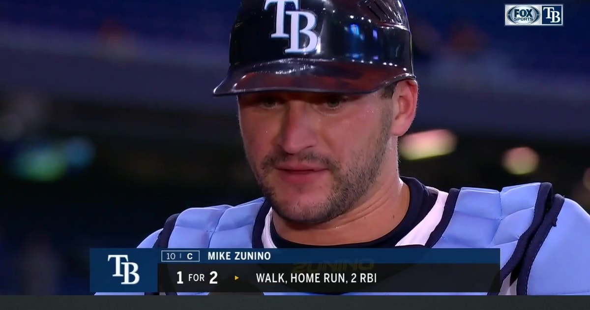 Mike Zunino on hitting his first homer with Rays, win over Kansas City
