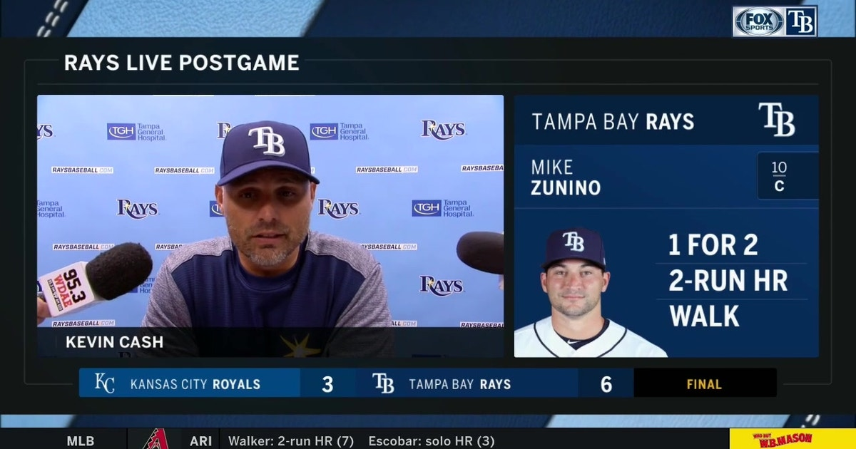 Kevin Cash talks about Mike Zunino's big night, getting back on track after 6-3 win over Royals