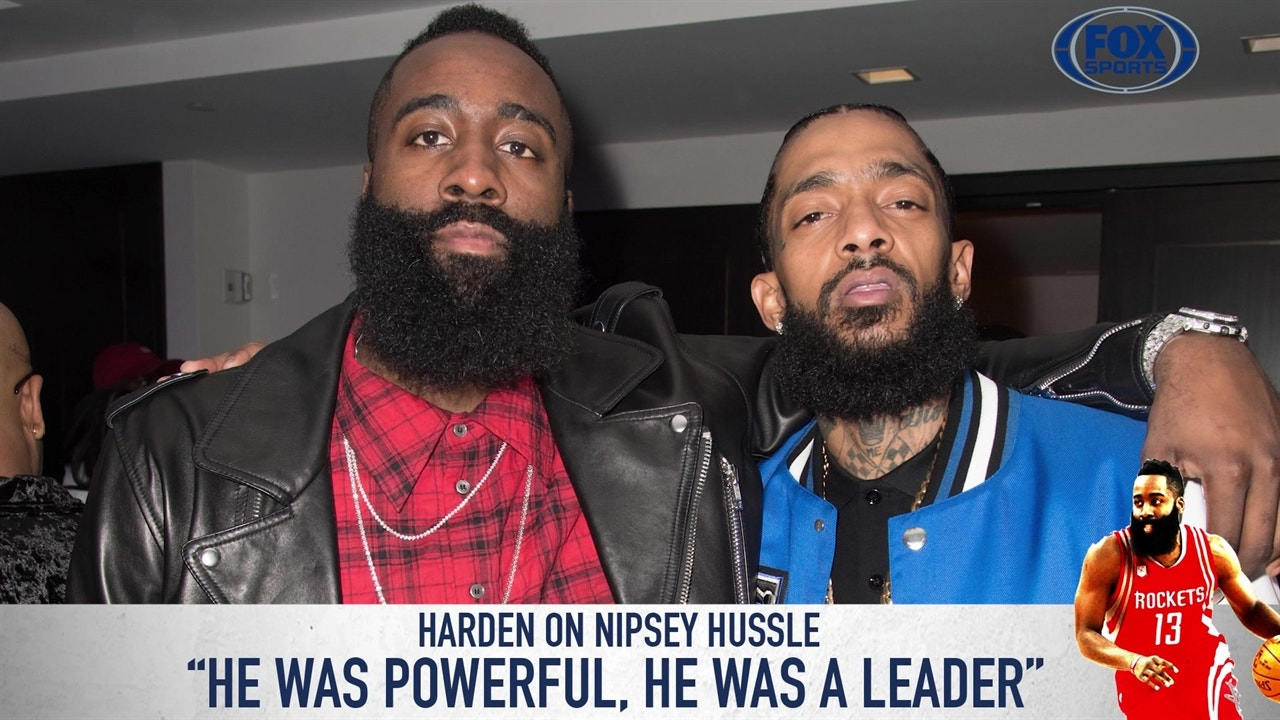 James Harden gets emotional talking about the murder of Nipsey Hussle