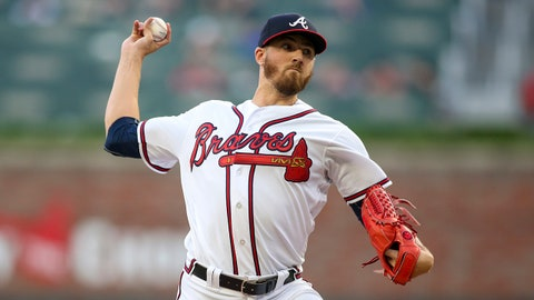 Apr 17, 2019; Atlanta, GA, USA; Atlanta Braves starting pitcher Kevin Gausman (45) throws against the Arizona Diamondbacks in the first inning at SunTrust Park. Mandatory Credit: Brett Davis-USA TODAY Sports