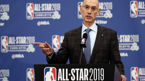 <p>               FILE - In this Feb. 16, 2019, file photo, NBA Commissioner Adam Silver speaks during the NBA All-Star festivities in Charlotte, N.C. Silver spoke to the media on Friday, April 12, 2019, in New York after a meeting of the NBA's Board of Governors. He mentioned shorter games or a shorter season as ways the NBA could make its future product better for players and fans. (AP Photo/Gerry Broome, File)             </p>