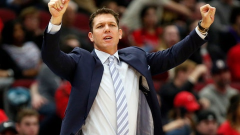 <p>               FILE - In this March 12, 2019, file photo, Los Angeles Lakers coach Luke Walton gestures to players during the second half of an NBA basketball game against the Chicago Bulls in Chicago. The Lakers say they have mutually agreed to part ways with Walton after three losing seasons. Lakers general manager Rob Pelinka announced Walton's departure Friday, April 12, 2019. (AP Photo/Nuccio DiNuzzo,File)             </p>