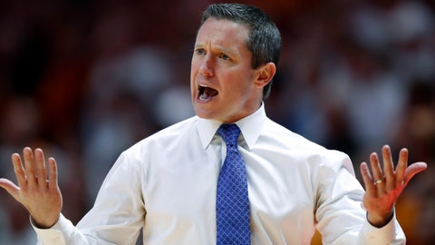 <p>               FILE - In this Feb. 9, 2019, file photo, Florida coach Mike White reacts to a call during the first half of an NCAA college basketball game against Tennessee, in Knoxville, Tenn. Florida coach Mike White could barely field a team right now. White has a six-man roster heading into the offseason after three players finished their senior years and four others decided to transfer. The departures leave the Gators searching for help and counting on White's best signing class in four years in Gainesville. (AP Photo/Wade Payne, File)             </p>