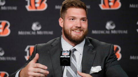 <p>               Cincinnati Bengals first-round draft pick Jonah Williams speaks during a news conference at Paul Brown Stadium, Friday, April 26, 2019, in Cincinnati. (AP Photo/John Minchillo)             </p>