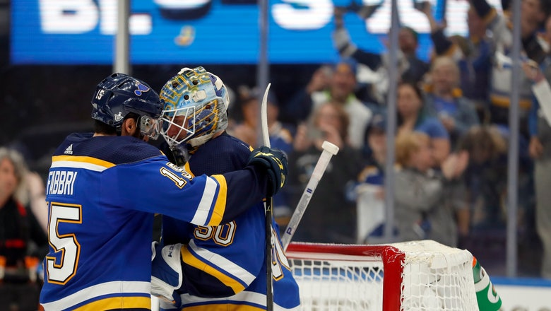 Blues' improbable run continues with first-round win