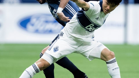 <p>               FILE - In this April 5, 2019, file photo, Vancouver Whitecaps' Inbeom Hwang, right, and Los Angeles Galaxy's Romain Alessandrini vie for the ball during the first half of an MLS soccer game in Vancouver, British Columbia. Alessandrini will be sidelined until September after undergoing his third knee surgery. The Galaxy announced Friday, April 26, 2019, that Alessandrini needed meniscus root repair in his left knee after getting hurt two weeks ago. (Darryl Dyck/The Canadian Press via AP, File)             </p>