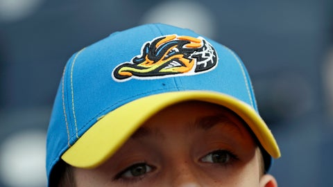 "<p>               Jake Sheehan, 9, wears an Akron RubberDucks cap as he watches a minor league baseball game between Akron and the Bowie Baysox, Thursday, April 18, 2019, in Akron, Ohio. For Akron, whose history is intertwined with the rubber industry's, ""a tough, gritty duck that's really got that blue-collar ethos to it"" was an ideal choice to rebrand, for both adults and kids. (AP Photo/Tony Dejak)             </p>"