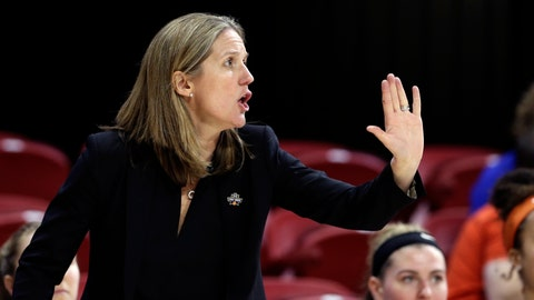 <p>               FILE - In this Saturday, March 23, 2019, file photo, Princeton head coach Courtney Banghart reacts during the second half of a first round women's college basketball game against Kentucky in the NCAA Tournament in Raleigh, N.C. A person with knowledge of the situation says North Carolina has reached a deal with Princeton's Banghart to become the Tar Heels' next women's basketball coach. (AP Photo/Gerry Broome, File)             </p>