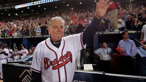 <p>               FILE - In this Oct. 11, 2010, file photo, Atlanta Braves manager Bobby Cox waves to fans after a loss to the San Francisco Giants in Game 4 of baseball's National League Division Series in Atlanta. Hall of Fame manager Cox remains hospitalized after suffering a stroke earlier this month. People familiar with the situation say that the former Braves skipper has resumed walking and has regained feeling in his right side since he fell ill on April 3, 2019. But the people say Cox, 77, has yet to regain his speech. The people spoke to The Associated Press, Friday, April 26, 2019, on condition of anonymity because neither Cox nor the Braves have publicly discussed his condition. (AP Photo/Dave Martin, File)             </p>