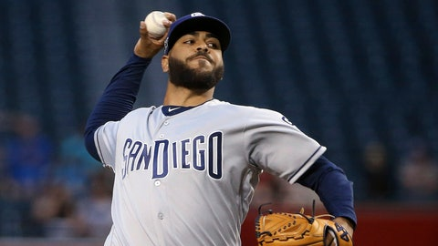 <p>               San Diego Padres starting pitcher Pedro Avila throws to an Arizona Diamondbacks batter during the first inning of a baseball game Thursday, April 11, 2019, in Phoenix. (AP Photo/Ross D. Franklin)             </p>