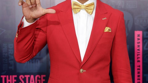 <p>               Louisiana State cornerback Greedy Williams walks the red carpet ahead of the first round at the NFL football draft, Thursday, April 25, 2019, in Nashville, Tenn. (AP Photo/Mark Humphrey)             </p>