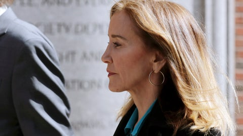 <p>               Actress Felicity Huffman arrives at federal court in Boston on Wednesday, April 3, 2019, to face charges in a nationwide college admissions bribery scandal. (AP Photo/Charles Krupa)             </p>