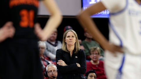 <p>               FILE - In this Saturday, March 23, 2019, file photo, Princeton head coach Courtney Banghart looks on during the first half of a first-round women's college basketball game against Kentucky in the NCAA Tournament in Raleigh, N.C. A person with knowledge of the situation says North Carolina has reached a deal with Princeton's Banghart to become the Tar Heels' next women's basketball coach. (AP Photo/Gerry Broome, File)             </p>