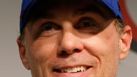 <p>               Kevin Harvick speaks to the media after winning the pole for Saturday's NASCAR Cup auto race at Richmond International Raceway in Richmond, Va., Friday, April 12, 2019. (AP Photo/Steve Helber)             </p>