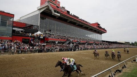 <p>               FILE - In this May 20, 2017, file photo, Cloud Computing (2), ridden by Javier Castellano, left, wins 142nd Preakness Stakes horse race at Pimlico race course as Classic Empire (5) with Julien Leparoux aboard takes second, in Baltimore. An engineering firm has determined the last historic section of Pimlico Race Course isn't safe, meaning almost 7,000 seats won't be available for the Preakness Stakes next month. The Baltimore Sun reports the Maryland Jockey Club will hold a news conference Monday, April 15, 2019, about the closure of 6,670 seats in the Old Grandstand's open-air section.(AP Photo/Matt Slocum)             </p>