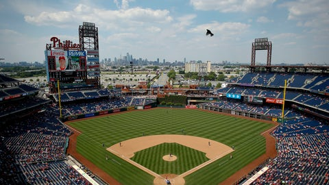 <p>               FILE - This is a June 20, 2016, file photo showing the Philadelphia Phillies playing a baseball game against the Arizona Diamondbacks at Citizens Bank Park, in Philadelphia. A person familiar with the planning tells The Associated Press that Major League Baseball will play the 2026 All-Star Game in Philadelphia to mark the 250th anniversary of the Declaration of Independence. The person spoke on condition of anonymity Thursday, April 11, 2019, because no announcement had been made.(AP Photo/Matt Slocum, File)             </p>