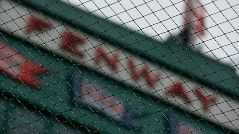 <p>               Mist collects on the netting at Fenway Park in Boston, Friday, April 26, 2019. The scheduled baseball game between the Boston Red Sox and the Tampa Bay Rays was postponed due to inclement weather. (AP Photo/Michael Dwyer)             </p>