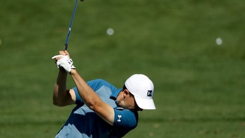 <p>               Jordan Spieth hits on the driving range at the Masters golf tournament Wednesday, April 10, 2019, in Augusta, Ga. (AP Photo/Marcio Jose Sanchez)             </p>