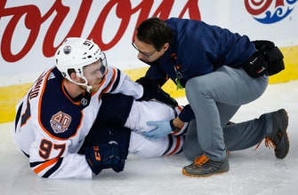 McDavid X-rays negative, injury not as bad as feared