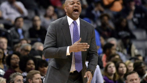 <p>               FILE - In this March 5, 2019, file photo, Memphis Grizzlies coach J.B. Bickerstaff calls to players during the second half of the team's NBA basketball game against the Portland Trail Blazers, in Memphis, Tenn. A person familiar with the Cavaliers' coaching search tells The Associated Press the team is interviewing former Memphis coach J.B. Bickerstaff. Bickerstaff is meeting with Cleveland officials Tuesday, April 30, 2019, said the person who spoke on condition of anonymity because the Cavs are not revealing their plans. (AP Photo/Brandon Dill, File)             </p>