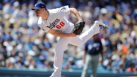 <p>               Los Angeles Dodgers starting pitcher Ross Stripling throws against the Milwaukee Brewers during the fourth inning of a baseball game, Sunday, April 14, 2019, in Los Angeles. (AP Photo/Jae C. Hong)             </p>