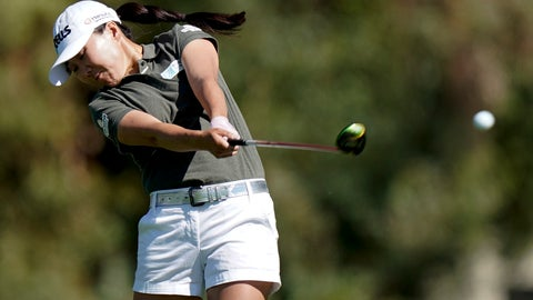 <p>               In-Kyung Kim, of South Korea, hits from the fairway on the second hole during the second round of the LPGA Tour ANA Inspiration golf tournament at Mission Hills Country Club Friday, April 5, 2019, in Rancho Mirage, Calif. (AP Photo/Chris Carlson)             </p>