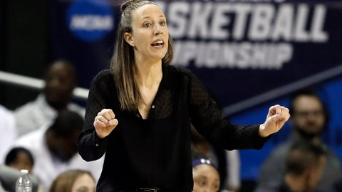 <p>               California head coach Lindsay Gottlieb instructs her team in the first half of a first round women's college basketball game in the NCAA Tournament in Waco, Texas, Saturday March 23, 2019.(AP Photo/Tony Gutierrez)             </p>